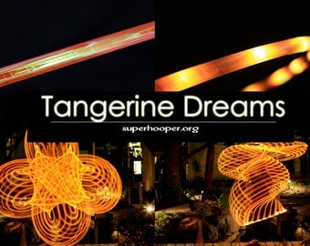 """LED Hoop - 'TANGERINE DREAMS'  - 3/4"""" Polypro. Made in any size 26"""" - 36"""". Free 3M Inside Grip Option!"""