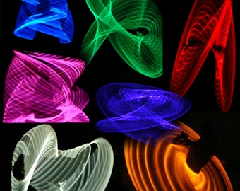 """LED Hoop - 'SiNGLE COLOR Hoop' - 3/4"""" -OR- 5/8"""" Polypro. 7 Available Colors! Made in any size 26"""" - 36"""". Free 3M Inside Grip Option!"""