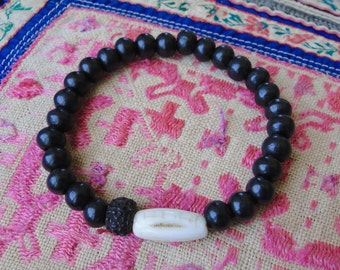TAMARIND MALA BRACELET, yoga, tribal, boho