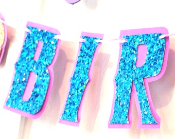 Mermaid Birthday Banner, Mermaid Birthday Party Banner, Mermaid Party, Mermaid Banner, Mermaid Birthday Party Decor, Mermaid HAPPY BIRTHDAY