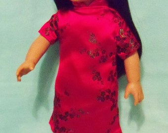 18 inch Doll  Asian Inspired Dress