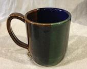 Pottery coffee mugs.