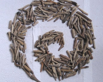 250 Small Driftwood Art Mosaic and Craft Supplies (1672)