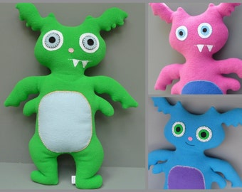 Custom Plush Monster Stuffed Animal - Draco