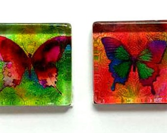 Magnets - Butterflies - Butterfly - Set of 4 - Gift for Mom, Sister, Grandma