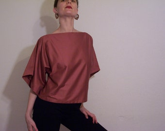 Angel Shirt, Burnt Sienna With Mid-Length Sleeves