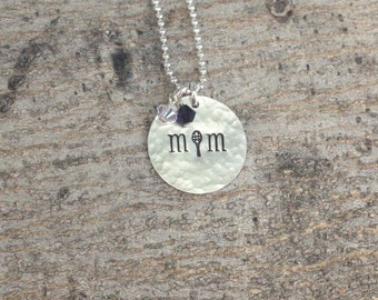 Tennis Mom Necklace, Tennis Mom Jewelry, Team Mom Gift Team Spirit Jewelry Sports Necklace
