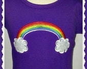 Girls Personalized Rainbow Appliqued Tee T Shirt or Onesie