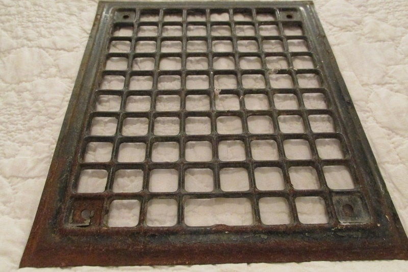 antique metal wall grate heat vent cover vintage architectural