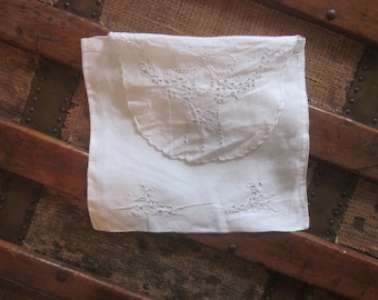 Pretty Cut Work and Embroidery Sachet Purse