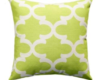 Premier Prints Fynn Canal Green Moroccan Quatrefoil Decorative Citrine Throw Pillow - Free Shipping