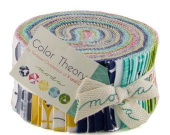 Jelly Roll - Color Theory by V and Co. for Moda