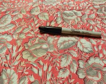 Fabric - dark coral homespun vintage