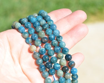 12 Apatite 8 mm Round Beads BD732
