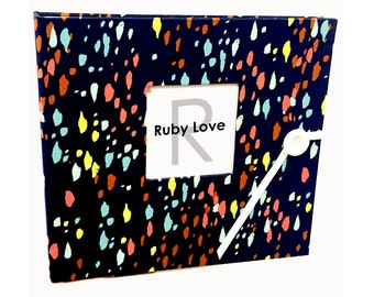 Baby Book | Baby Memory Book | Navy Confetti Album - Fall 2015 Collection