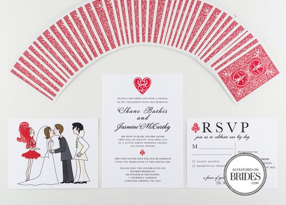 Wedding Invitation, Las Vegas and Elvis Style Wedding as seen in Brides Magazine
