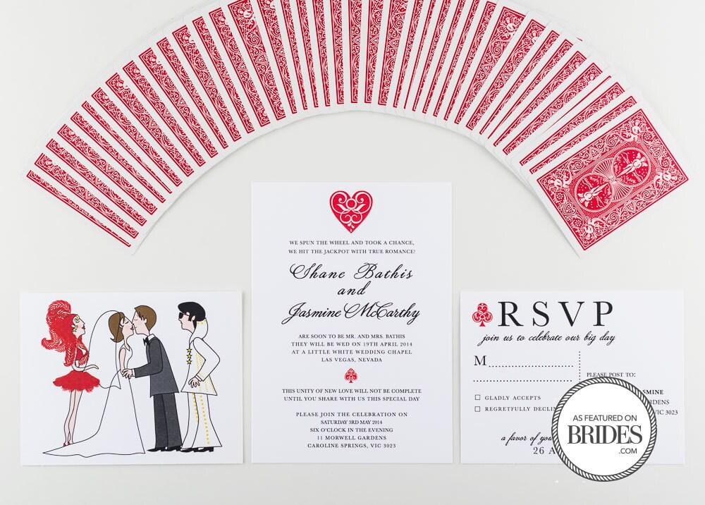 Wedding invitation las vegas and elvis style wedding as seen for Las vegas elvis wedding invitations