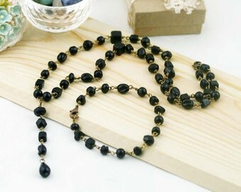 Night tinkle necklace set - glass beads
