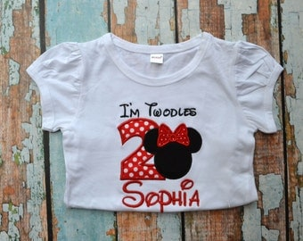 I'm Twodles Minnie Mouse Birthday Shirt - Second Birthday Shirt - I'm Twoodles Shirt - 2nd Birthay Shirt - Girls Birthday Shirt