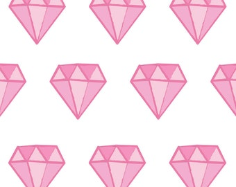 On Sale Fabric Wall Decal - Diamonds (Pink) (reusable) NO PVC