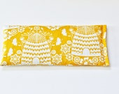 Lavender Eye Pillow, Yellow Gold Bee Hive, Cotton Eye Bag, Nature Lover Gift, Natural Aromatherapy