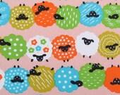 2631B -- Colorful Fun Sheeps Fabric in Light Pink , Animal Fabric