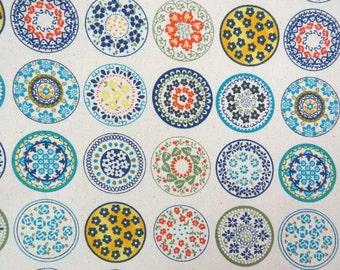 2635A -- Sale - Kaleidoscope in Linen White Fabric