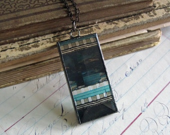 Movie Film Bevel Glass Necklace