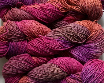 Little Cable, hand painted yarn, cotton, 225 yds - Red Oak