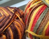 Bamboo Spica Yarn sold by lot 100% Bamboo Fall Hues 9 Skeins or Rust Hues 11 Skeins