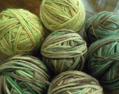 Fall Hues of Home Spun Hand Dyed Self Patterning Merino Wool Yarn Sold by lot