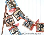 Cowboy Birthday Banner Decoration Western Theme Little Buckaroo
