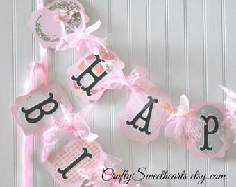 Ballerina Birthday Party Banner Decoration      Pink