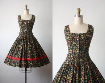 hungarian summer dress / 50s dress / 1950s dress