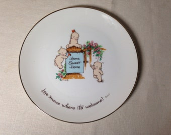 Kewpie Doll Collectors Plate HOME SWEET HOME 1970s
