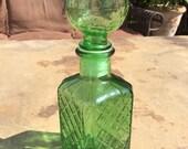 Vintage Emerald Green Liquor Decanter