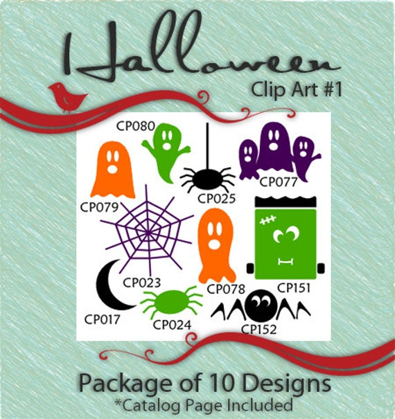 Halloween Clip Art Package 1 Vector Art Vinyl Ready Designs