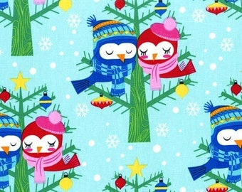 Christmas Michael Miller Fabric Christmas Lovebirds Winter All the Trimmings