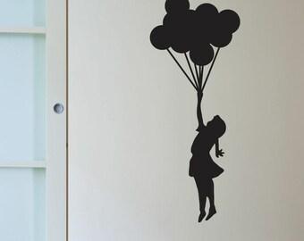 Banksy Balloon Girl Wall Decals