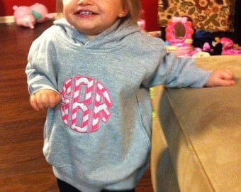 Toddler Hooded Sweatshirt Personalized Monogrammed Pullover