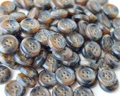 Brown Multi Colored Buttons - 7/16 inch - YOU PICK QUANTITY - 100 to 500