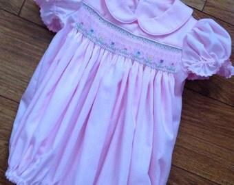 Baby girl, toddler short sleeve bubble suit