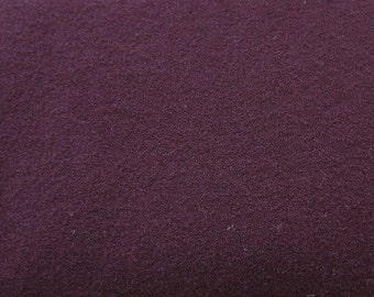 Dark Antique Red Hand Felted Wool Fabric - Hand Dyed - - 100% Wool