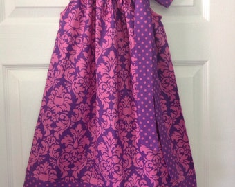 Ready to Ship! Size 3 Damask Pillowcase Dress