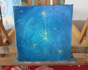 Cancer Constellation Painting 6x6 inches