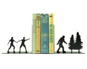 Bigfoot Sasquatch Metal Art Bookends - Free USA Shipping
