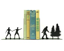 Bigfoot Sasquatch Metal Art Bookends - Free USA Shipping