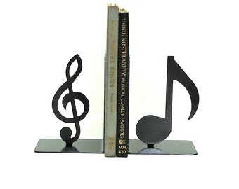 Music Note Metal Art Bookends - FREE USA Shipping