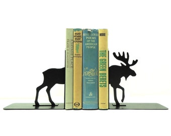 Moose Metal Art Bookends - Free USA Shipping