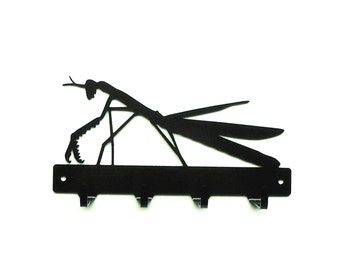 Praying Mantis Metal Art Key Rack - Free USA Shipping
